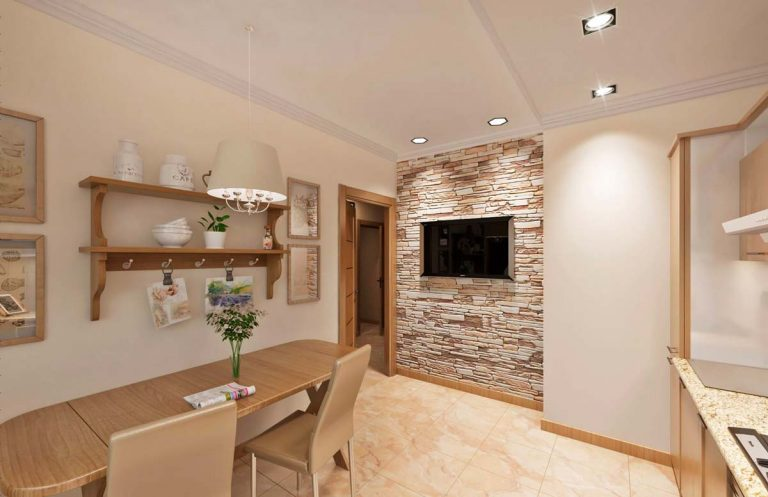 кухня, шале, Дизайн интерьера в Минске